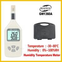 디지털 온도 습도 측정기 고정밀 휴대용 가정용 실내 옥외 계측기 측정 도구 GM1360A-BENETECH