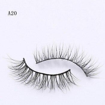 New False Mink Eyelashes Long Natural Fake Eyelashes Soft Makeup Eye Lashes 3D Mink Lashes Eyelash Extension A20