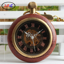 Collecting treasures all copper wood straight retro mechanical watch old antique send their elders with T018