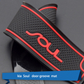 Anti-Slip Fouling Mat Sticker Cover Gate Slot Pad Door Carpets For KIA SOUL Interior Decoration Accessory Red White Blue 13PCS