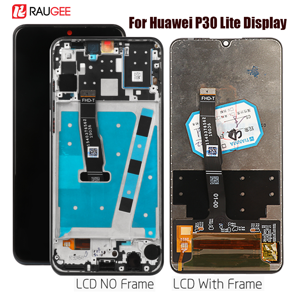 Display For Huawei <font><b>P30</b></font> Lite <font><b>LCD</b></font> Touch Screen Assembly Replacement For Huawei Nova 4e/P 30 Lite Display MAR-LX1M,LX2 Tested LCDs image