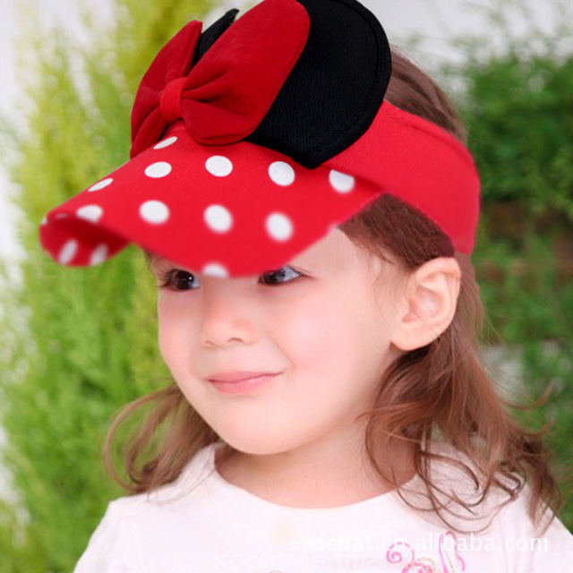 020710c6d7005 2016 New Girls Summer HatsBeautiful Big Butterfly Bow Baby Girls Visors Kids  Sunbonnet Sun Hats Child Visor Caps for 2-8years