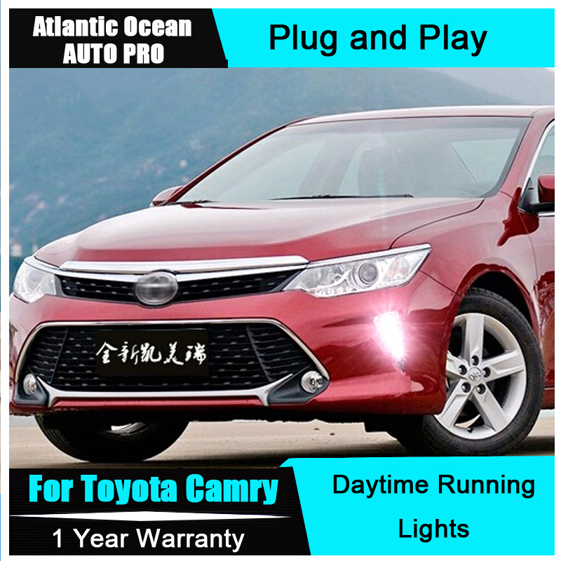 AUTO PRO 2015 For Camry LED Daytime Running Light Car Styling For Camry LED DRL LED fog lights LED driving lights
