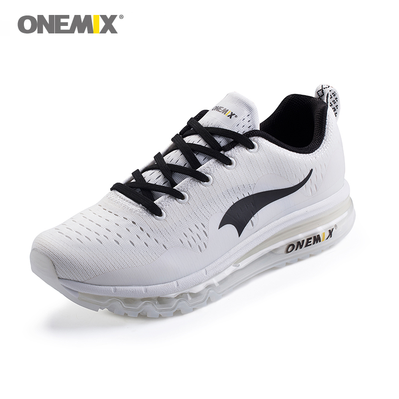 Onemix Men s Athletic Shoes White Sport Shoes Outdoor Male Walking Sneakers Comfortable Man Running Jogging