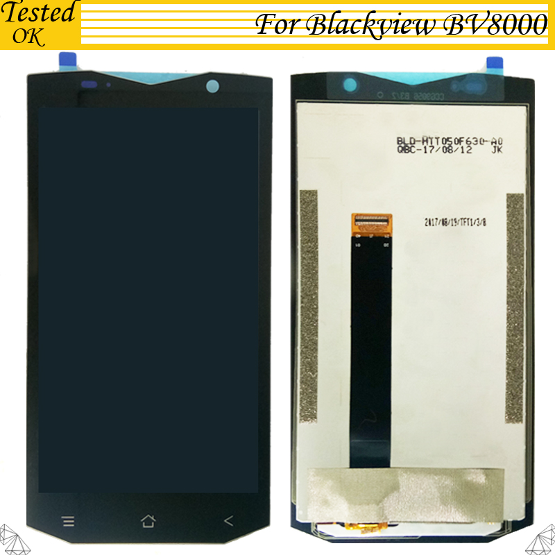 100% Tested Working For Blackview BV8000 / BV8000 Pro LCD Display +Touch Screen Digitizer Assembly For Blackview BV 8000 LCD|Mobile Phone Flex Cables| |  - title=