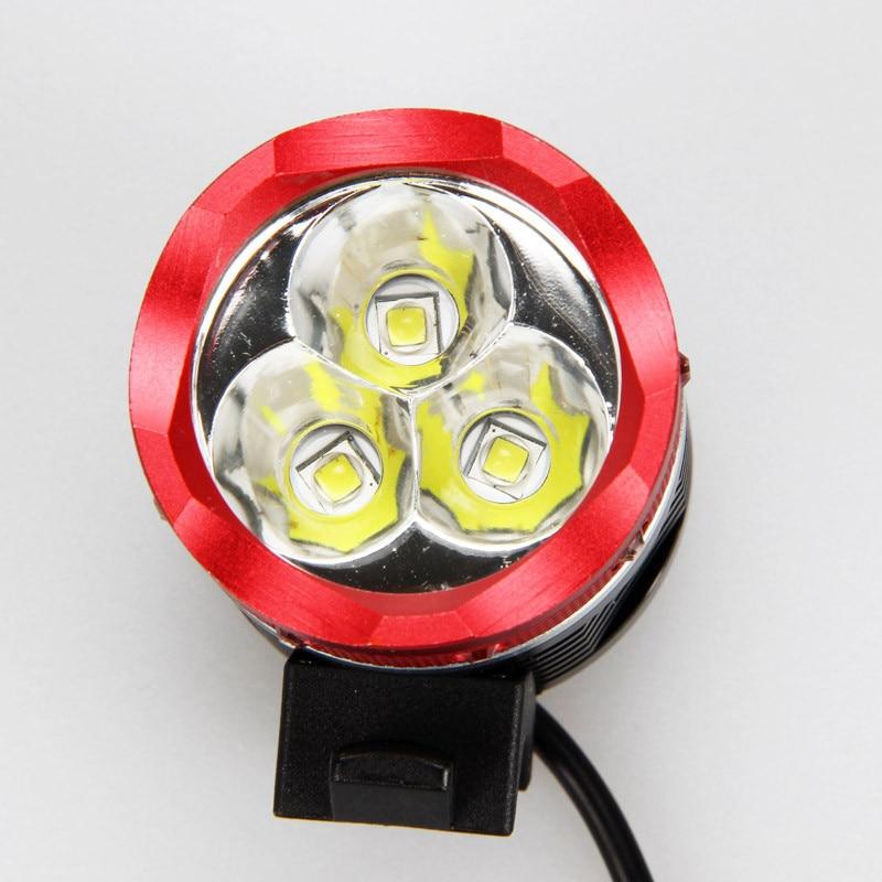 4000 Lumens Mountain Cycling Bicycle light 3x Cree XM-L2 (T6) Led Bike headlight+ 6400mah 18650 battery pack+Charger+head strap