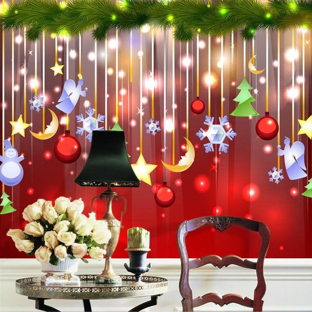 Large Merry Christmas Gift Festival Mural 3d Wall Murals Wallpaper