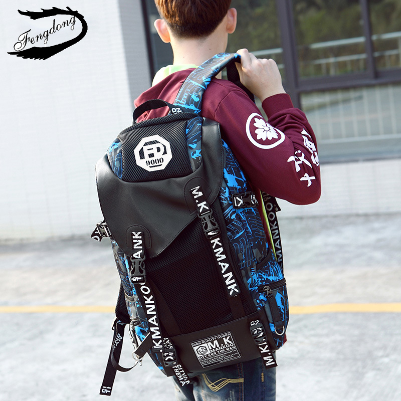 Fengdong 2018 New Men Backpack Korean Style Tide Oxford Wear Resistant Travel Bag Backpack Male Mochila Bagpack Pack Design wear resistant casual men backpack
