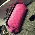 Crânio tecido de luxo cadeia knucklebox evening clutch bags bolsas de couro das mulheres do sexo feminino bolsa de ombro bolsos mujer de marca feminina 49