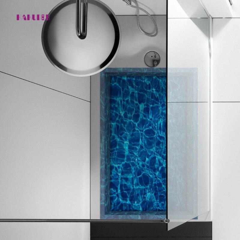 KAKUDER Swimming Pool Wall Stickers Kids Room Muurstickers Home Decor Vinilos Paredes Floor Stickers Wall Decor 58 * 90cm