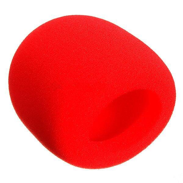 10Pcs Stage Hand Microphone windshield foam covered Mic Karaoke DJ Red