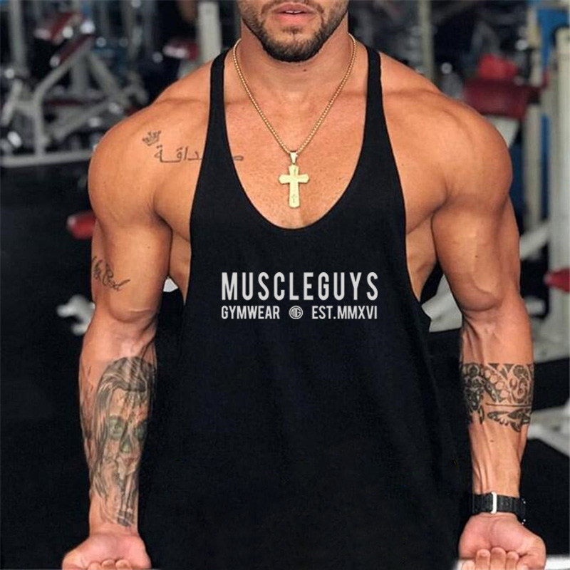 db3649f4c08ddd Summer Gyms Vest Men Fitness Bodybuilding Stringer Tank Tops Fashion Mens  Crossfit Clothing Loose Y Back Sleeveless Shirts-in Tank Tops from Men s  Clothing ...