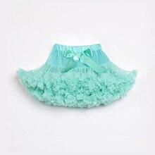 Мятная детская юбка-американка детская шифоновая юбка-пачка для девочек Детская летняя юбка-пачка для девочек вечерние свадебные платья