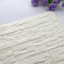 DIY 60cm x 30CM 3D Brick PE Foam Wall Sticker Home Wallpaper  Embossed Decal Poster Stone Decoration Panels Room