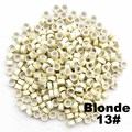 1000pcs/lots Feather hair extension beads Aluminium Silicone Micro Ring for Hair Extension Tools, Blond