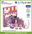 Умный и счастливую землю 3d модель головоломка Магазин Модной Одежды Из Леер головоломка diy бумажная модель головоломки девушка игрушки игры для детей