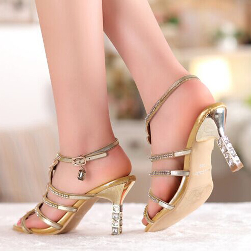 ФОТО Sandal Floral Gold Sky Blue Colors Rhinestones High Heels Prom Evening Party Shoes Dress For Women Lady Bridal Wedding Shoes