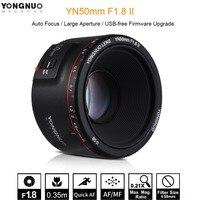 YONGNUO YN50mm F1.8 II Auto Focus 50mm Standard Prime Lens Large Aperture Lens for Canon EOS 760D 70D 5D2 5D3 7D DSLR Camera