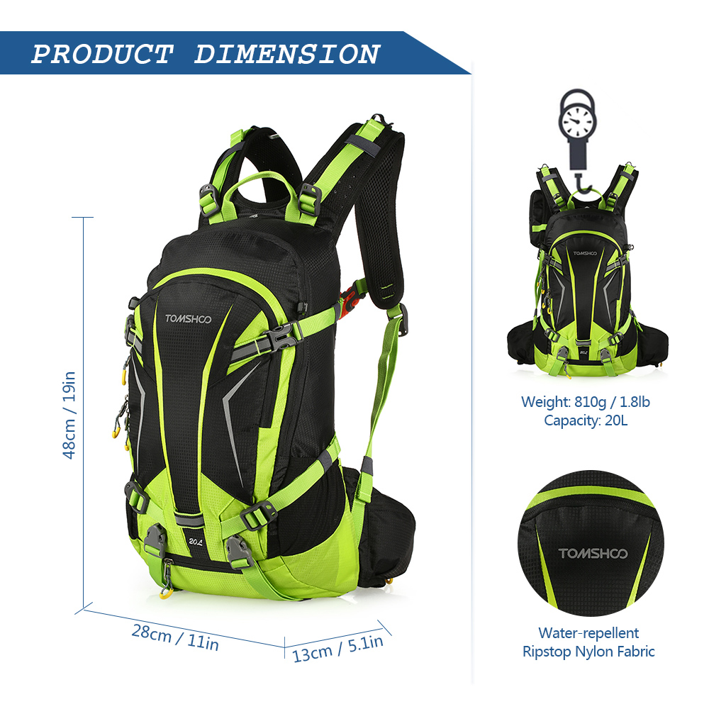 TOMSHOO 20L Waterproof Cycling Backpack Climbing Rucksack Pack Outdoor Bag  Travel Hiking Backpack Daypack with Rain Cover-in Climbing Bags from Sports  ... 304ac0daecfed