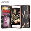 Laumans Luxury Camo Leather Phone Cover Case For Iphone 5 5s 6 6s 6plus 7 7plus