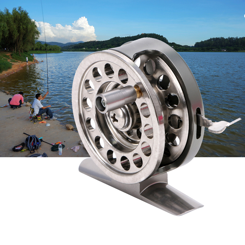 New Fishing Metal Coils Centrifugal Drop Round Aluminum Alloy Bearings Fly Fishing Wheel CoilFishing Reels   -