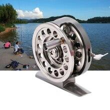 Nowy połowów metalu cewki odśrodkowe spadek okrągłe ze stopu aluminium ze stopu aluminium łożyska Fly Fishing koło cewki