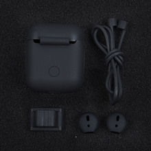 For Apple AirPods Silicone Cover Skin Spare Part Accessories Rubber Comfortable Replacement Case Box New