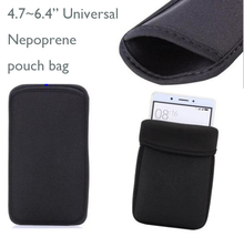 "4.7""~6.4"" Universal Neoprene Protective Pouch Bag Sleeve For iphone X 8 P 6 7 Plus For Samsung NOTE8 S8 PLUS&Tempered glass Film(China)"
