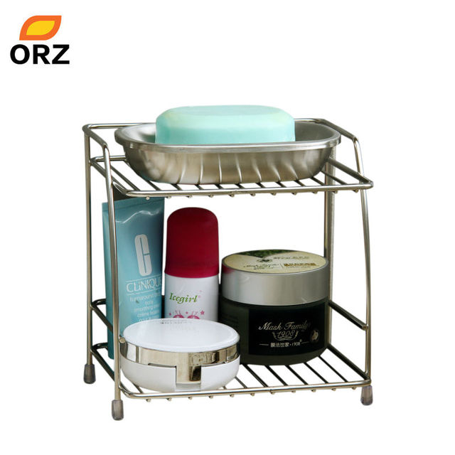 ORZ 2 Layers Stainless Steel Storage Rack Spice Condiment Basket ...