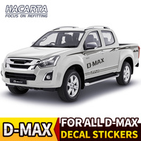 dmax Decal Sticker Vinyl car body Stripe stickers Kit for D MAX 2010~2019 Frontier Glue Stickers cover FREE SHIPPING