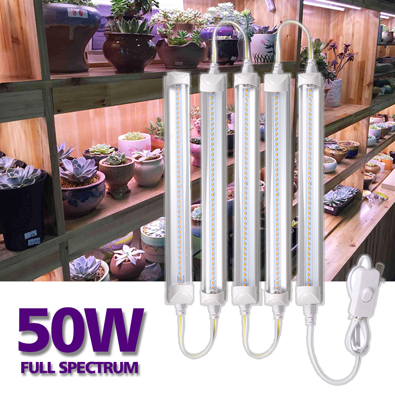 50W Full Spectrum LED Plant Grow Light Indoor Phyto Lamp Fitolamp SMD5730 Plants Growing Fitolampy Seed Flower Tent LED Lights