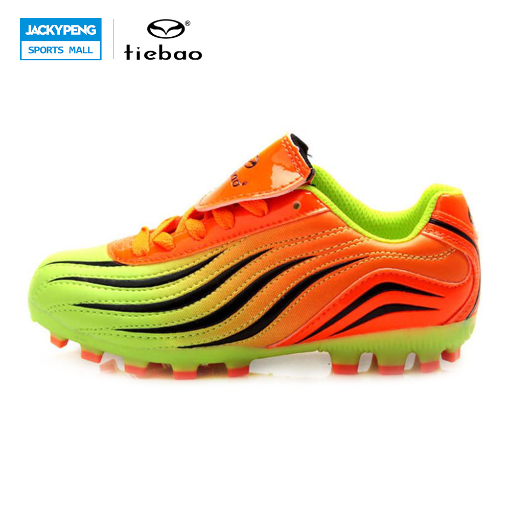 TIEBAO Professional Outdoor <font><b>Soccer</b></font> <font><b>Shoes</b></font> Teenagers Training <font><b>Soccer</b></font> Cleats Breathable Children Kids H & A Sole Football Boots