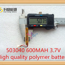 3,7 V литий-полимерный аккумулятор 503040 053040 MP3 Bluetooth DIY Аудио/игрушки 600MAH