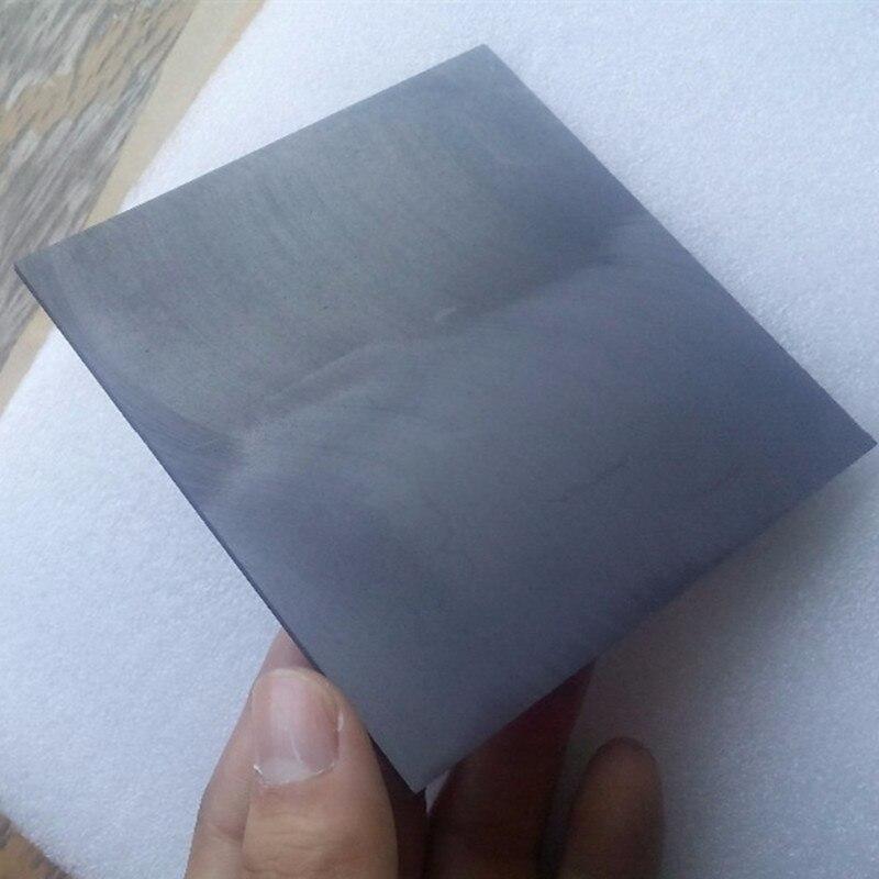 Placa da Eletrólise Alta da Folha da Grafite do Carbono de 5 100x100x1mm para o Elétrodo de Edm Placa Pura Pces Elétrodos Grafite