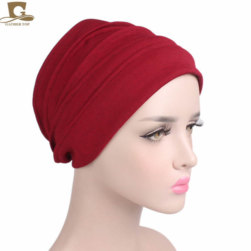 10 pcs/lot wholesale 2017 new Women Cotton Slouchy Snood  Beanie ruffle baggy Hat  Cancer chemo Hats for hair loss Ladies Turban new cotton slouchy wrinkle cap double flower floral beanie hats for cancer chemo patients
