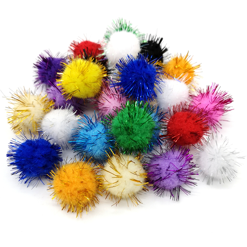 50pcs Colorful Pompoms 15mm 25mm For Dolls Garment Handmade Material Soft Fluffy Pom Poms Ball For DIY Kids Toys Accessories