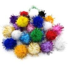 Разноцветные помпоны для кукол, 50 шт., 15 мм, 25 мм, материал ручной работы, мягкие пушистые Помпоны, шарики для детских игрушек «сделай сам», ак...