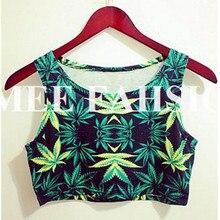 Восточная трикотажная X-079, новинка, Woah Dude 2,0 HWMF, майка с листьями, укороченный топ, женская футболка