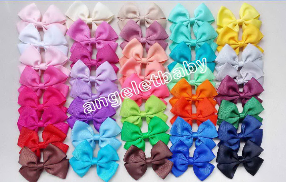 100pcs Boutique Girls Ribbon Hair Bows clips Cheerleading Bow Accessories hairpin kids hair band flower HD3437