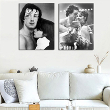 Stallone Sports Films Canvas Painting Oil Print Bedroom Home Decor Modern Wall Art Oil Painting Poster Salon Pictures Framework billie eilish fan art poster canvas painting print living room home decor modern wall art oil painting salon pictures framework