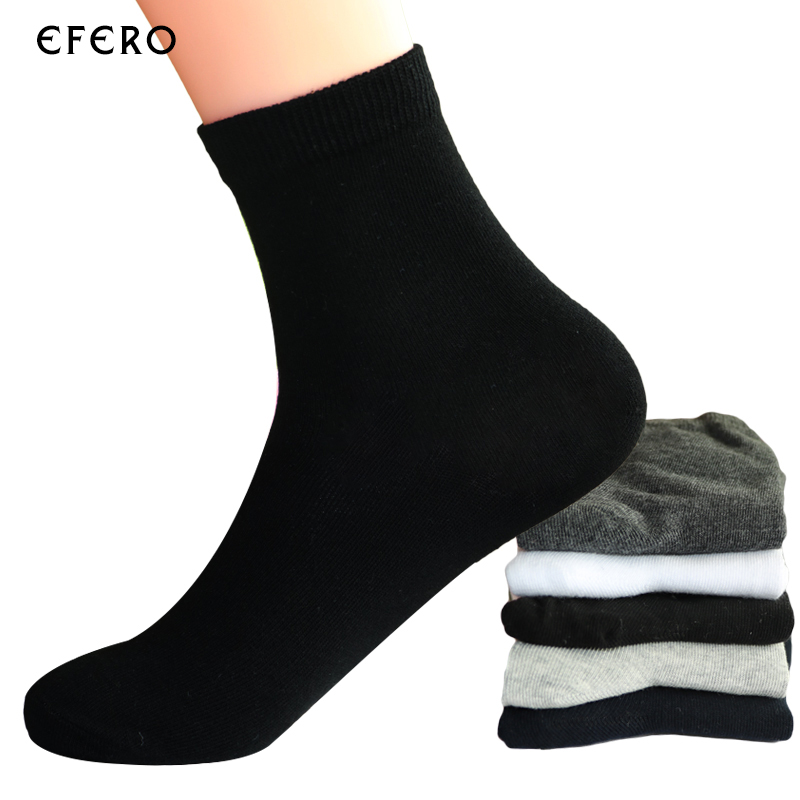 5pair Comfortable Mens Business Cotton Socks For Man Brand Autumn Winter Black Socks Male White Casual Socks Calcetines New