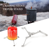Foldable Outdoor Camping Cooker Set Gas Stove Clip on Stove Windshield Folding Cylinder Tripod Holder Gas Refill Adapter Set