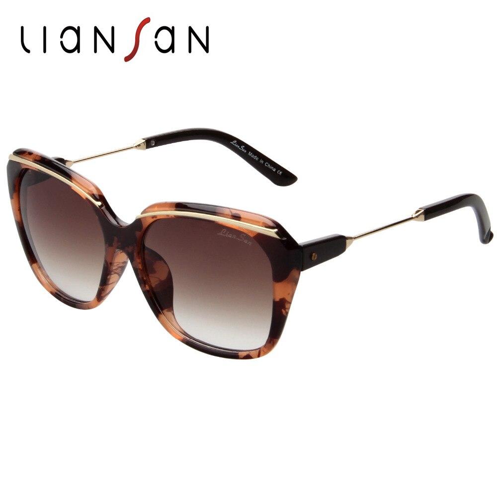 LianSan Vintage Retro Square Oversized font b Polarized b font Sunglasses Women Female Brand Designer Plastic