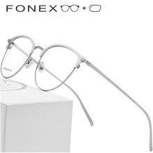d189255019 Puro titanio gafas de marco de los hombres gafas Vintage miopía óptica gafas  para mujeres
