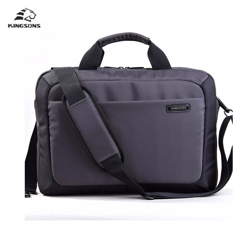 все цены на Kingsons Laptop Bag 14.1 inch Notebook Computer Laptop Sleeve Case for Men Women Waterproof Shockproof Briefcase Shoulder Pack онлайн