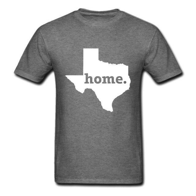 0fbee53dd Texas Home T Shirt Men's Unite State Houston Custom Your Village Town Map  tshirt camiseta Summer Tops Unisex Men Women Short Tee