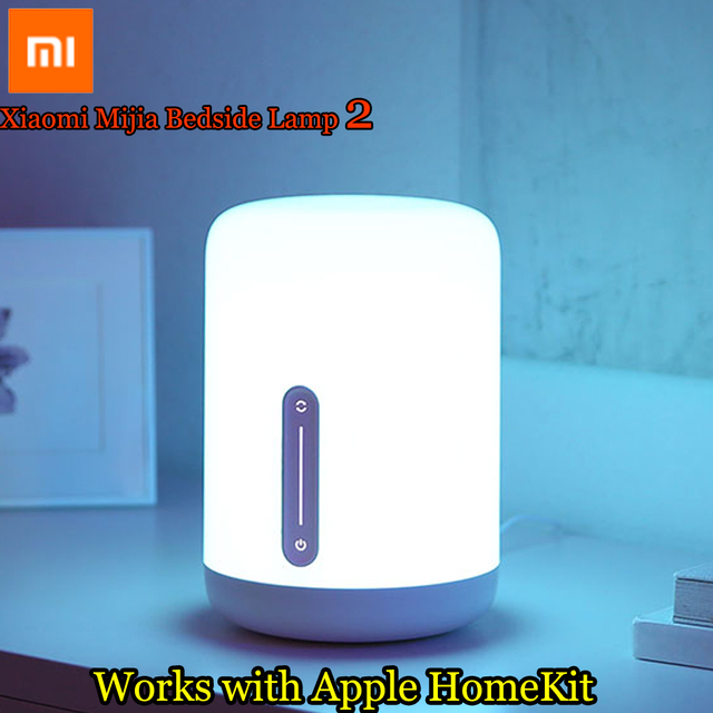 2018 New Xiaomi Mijia Bedside Lamp 2 Light WiFi/Bluetooth LED Light Smart Indoor Night Light Works with Apple HomeKit