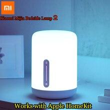 Xiaomi Lámpara de mesita de noche Mijia, 2 luces LED con WiFi y Bluetooth, funciona con Apple HomeKit, 2018