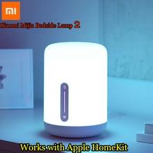 Прикроватная лампа Xiaomi Mijia, светодиодный умный светильник с двумя лампами, Wi Fi/Bluetooth, работает с приложением Apple HomeKit, 2018
