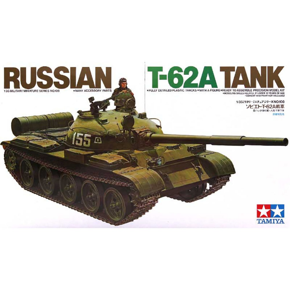 OHS Tamiya 35108 1/35 Russian T62A Tank Military Assembly AFV Model Building Kits oh ohs tamiya 35326 1 35 u s main battle tank m1a2 sep abrams tusk ii military assembly afv model building kits